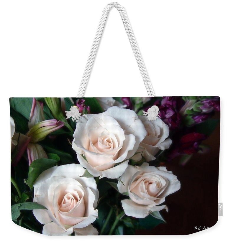 Flowers Weekender Tote Bag featuring the photograph Pardon My Blush by RC DeWinter