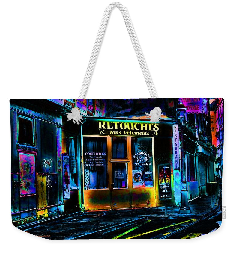 Paris Weekender Tote Bag featuring the photograph Paris At Night by Ericamaxine Price