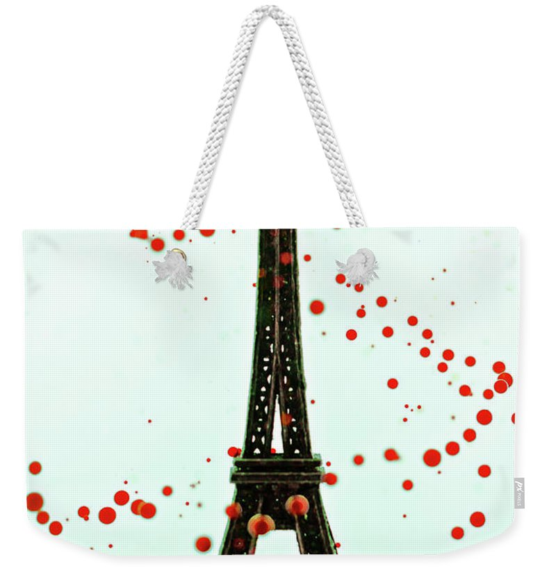 Replica Eiffel Tower Weekender Tote Bag featuring the photograph Paris by Dina Belenko Photography
