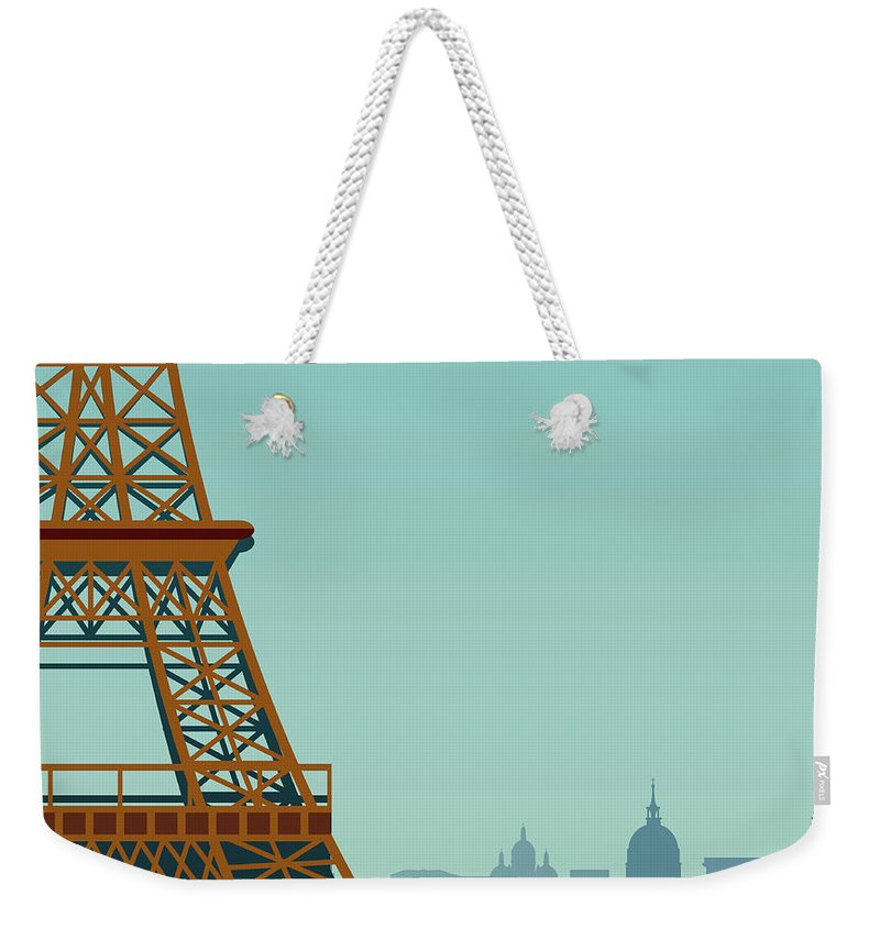 Built Structure Weekender Tote Bag featuring the digital art Paris by Drmakkoy