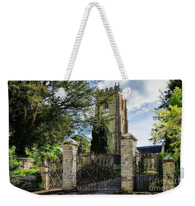 Whitchurch Canonicorum Weekender Tote Bag featuring the photograph Parish Church Of St Candida And Holy Cross by Susie Peek
