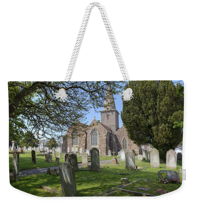 St Martin Weekender Tote Bag featuring the photograph Parish Church St Martin - Jersey by Joana Kruse
