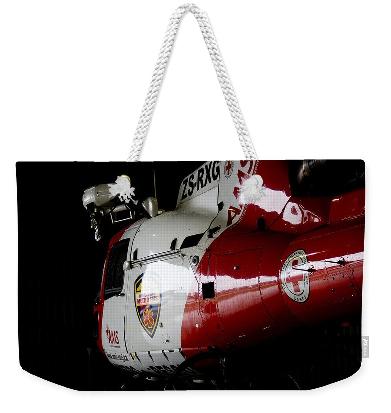 Ams Weekender Tote Bag featuring the photograph Parked by Paul Job