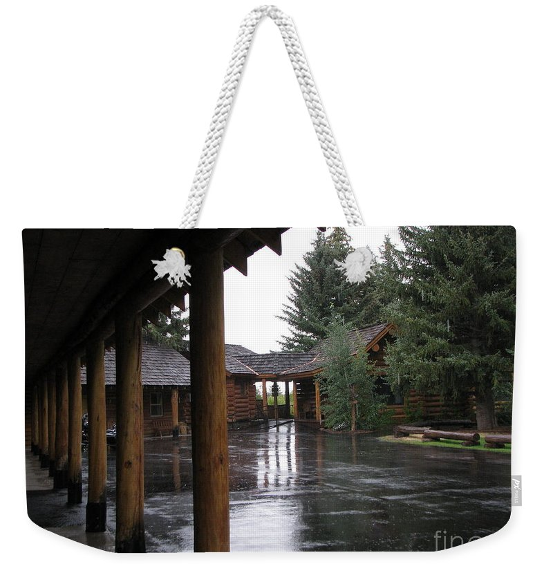 Patzer Weekender Tote Bag featuring the photograph Parking Lot by Greg Patzer