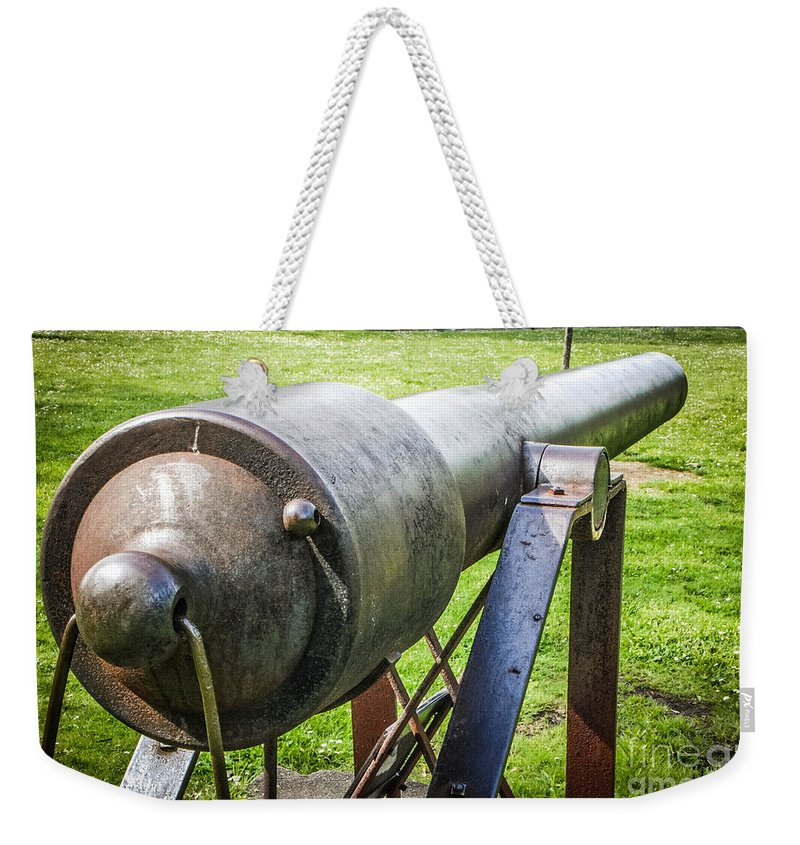 Eaton Rapids Weekender Tote Bag featuring the photograph Parrott Rifle by Grace Grogan