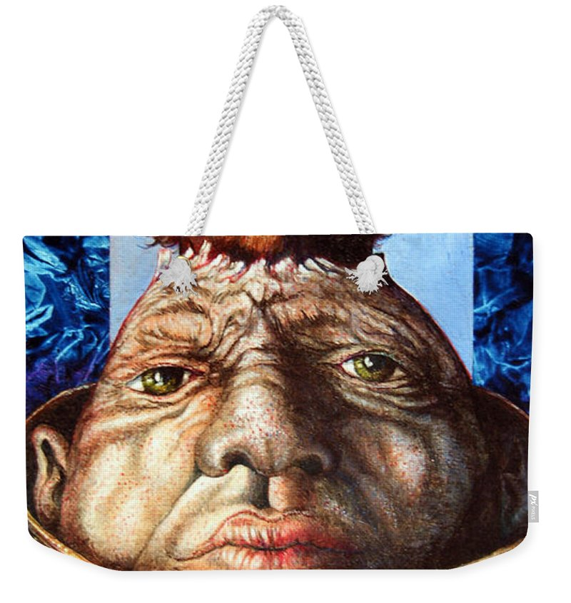 Surrealism Weekender Tote Bag featuring the painting Parthenogenesis II by Otto Rapp