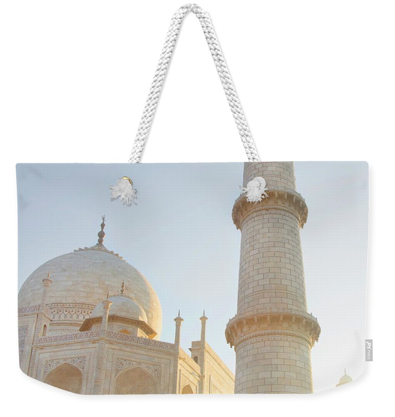 Arch Weekender Tote Bag featuring the photograph Partial View Taj Mahal by Grant Faint