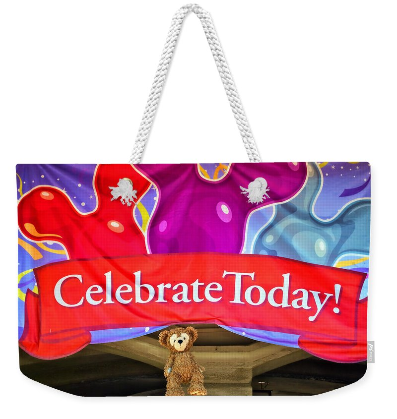 Fantasy Weekender Tote Bag featuring the photograph Party Bear by Thomas Woolworth