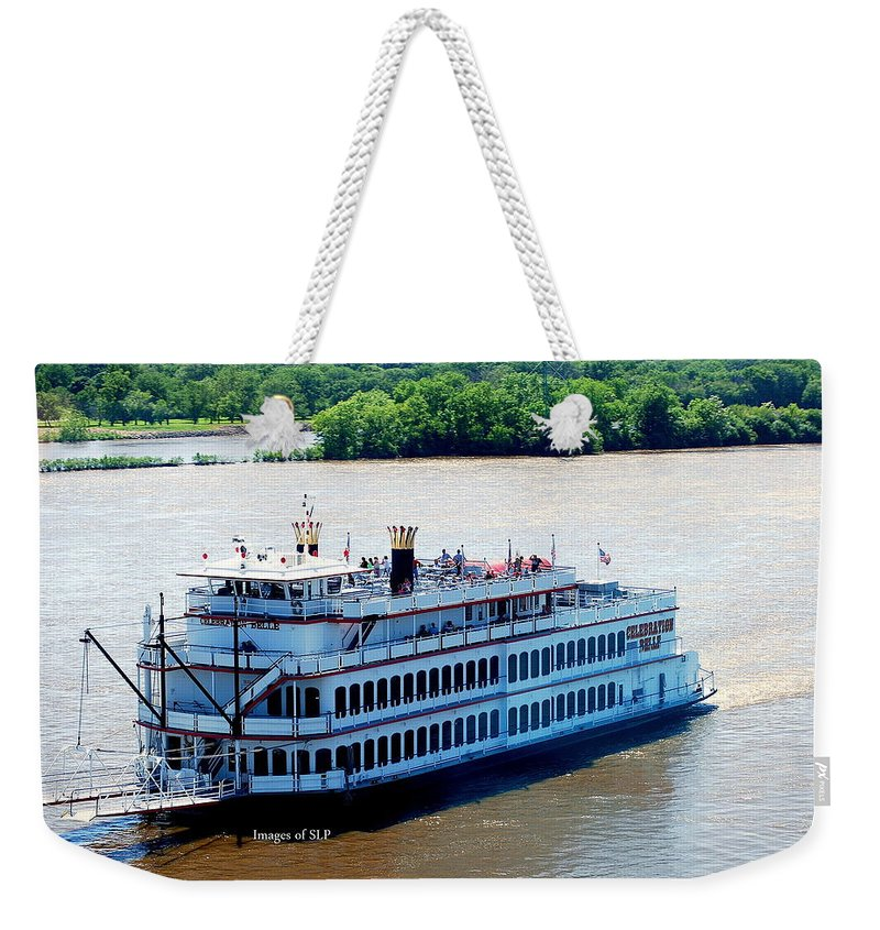 Riverboat Weekender Tote Bag featuring the photograph Party Time by Scott Polley