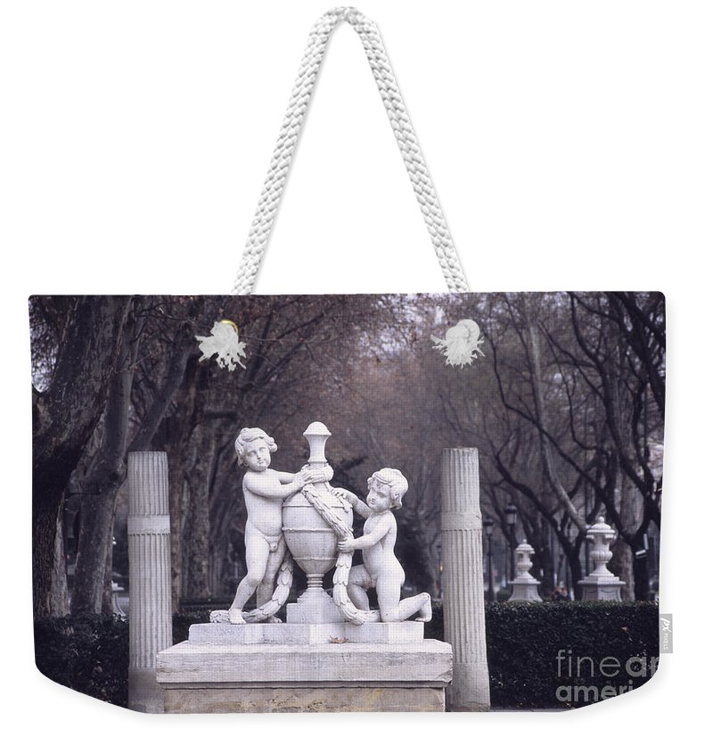Spain Weekender Tote Bag featuring the photograph Paseo Del Prado In Winter Madrid by James Brunker