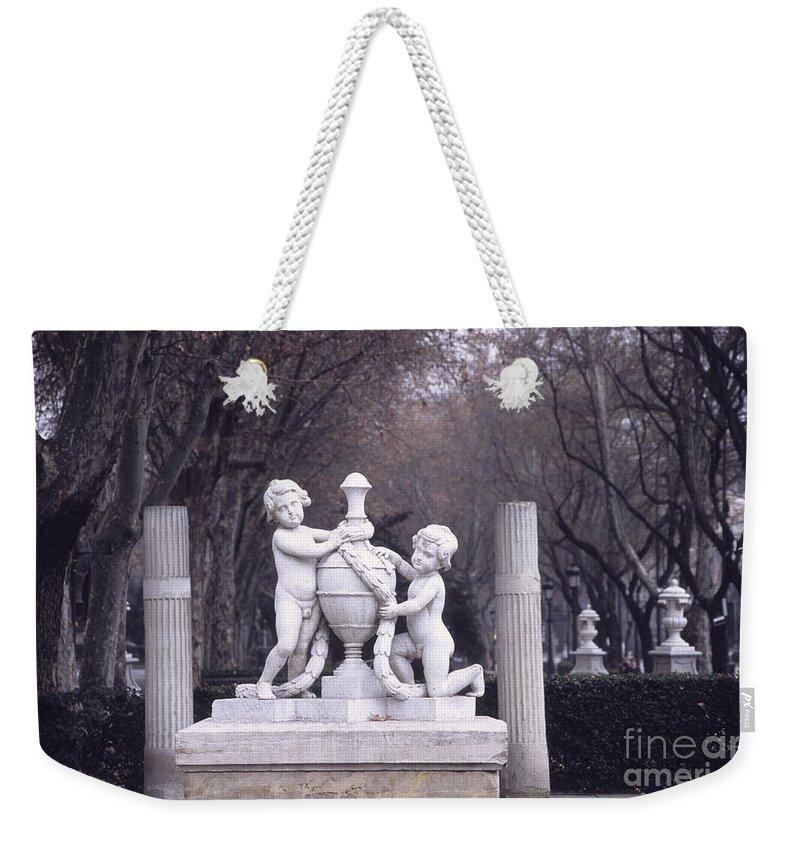Spain Weekender Tote Bag featuring the photograph Paseo Del Prado In Winter Madrid by James Brunker