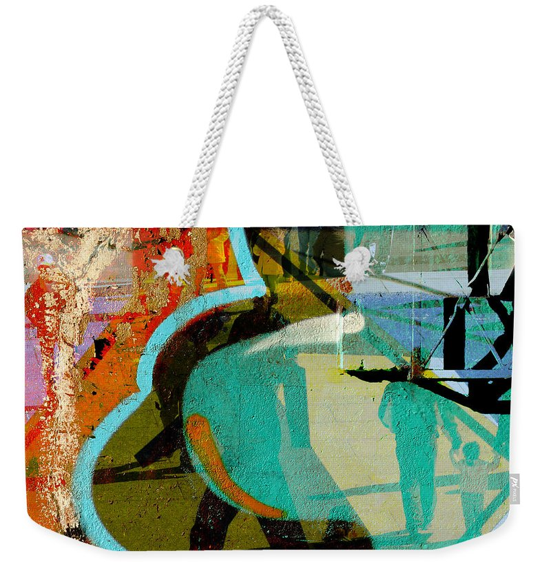 Abstract T Art Weekender Tote Bag featuring the photograph Passangers Paintbrush by The Artist Project