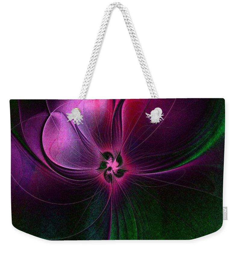 Digital Art Weekender Tote Bag featuring the digital art Passion Flower by Amanda Moore