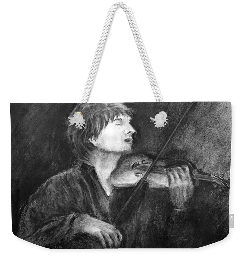 Music Weekender Tote Bag featuring the drawing Passion by Loretta Luglio