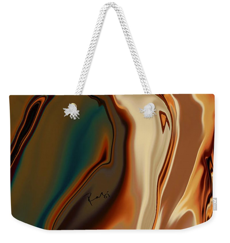 Abstract Weekender Tote Bag featuring the digital art Passionate Kiss by Rabi Khan