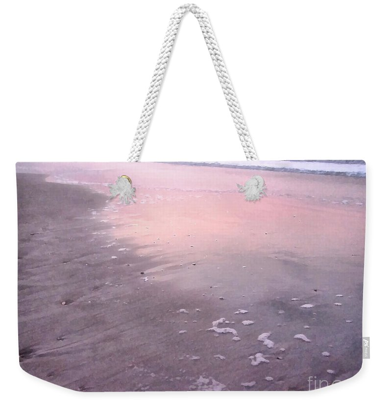 Landscape Weekender Tote Bag featuring the photograph Pastel Beach by Todd A Blanchard