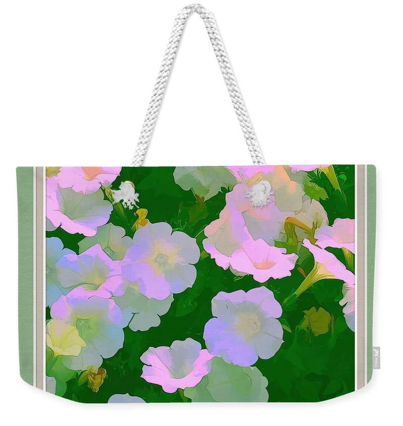 Artistic Photography Weekender Tote Bag featuring the photograph Pastel Flowers II by Tom Prendergast