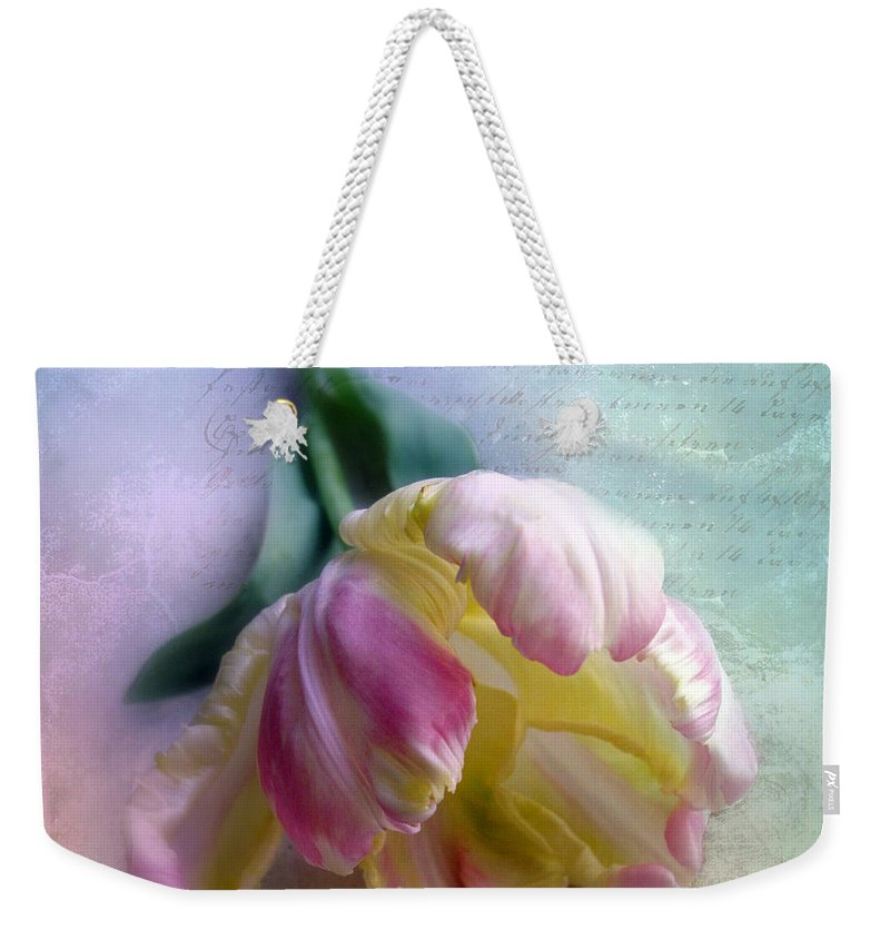 Botanical Weekender Tote Bag featuring the photograph Pastel Poem by Jessica Jenney