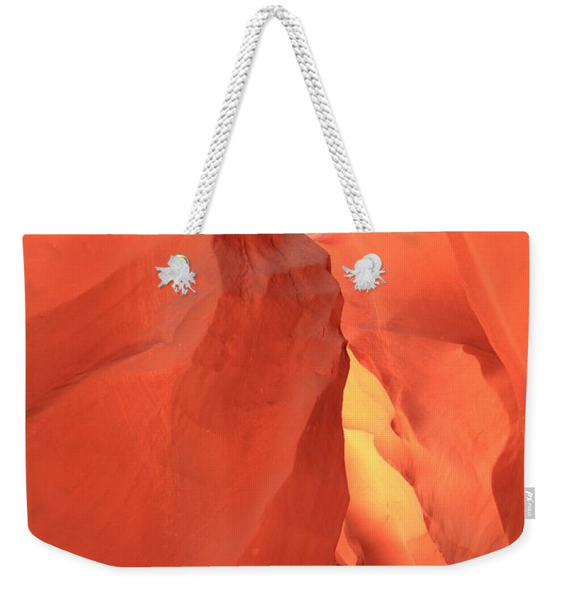Arizona Slot Canyon Weekender Tote Bag featuring the photograph Pastel Tunnel by Adam Jewell
