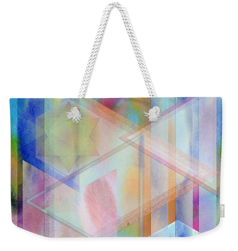 Pastoral Moment Weekender Tote Bag featuring the digital art Pastoral Moment - Square Version by John Robert Beck
