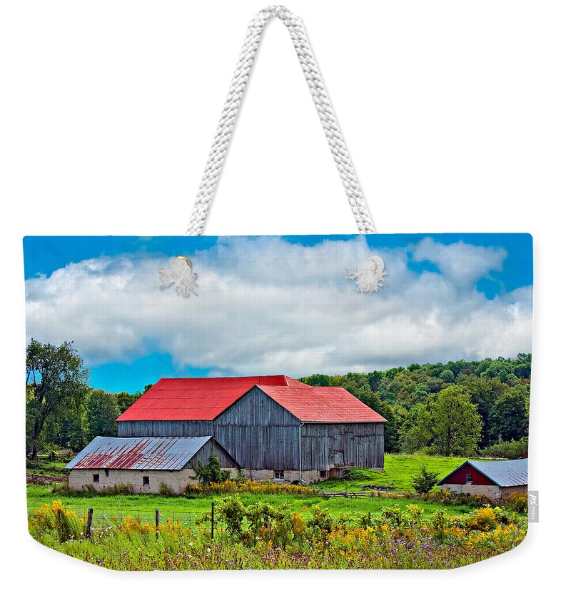 Landscape Weekender Tote Bag featuring the photograph Pastoral Ontario 2 by Steve Harrington