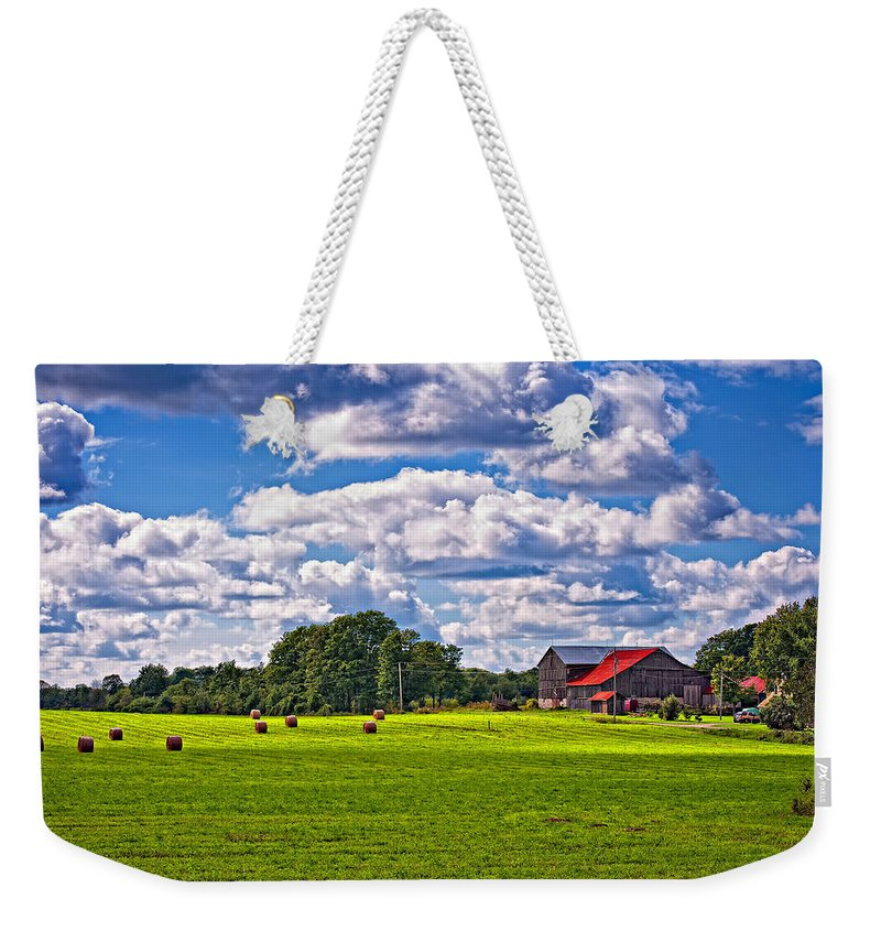 Landscape Weekender Tote Bag featuring the photograph Pastoral Ontario by Steve Harrington
