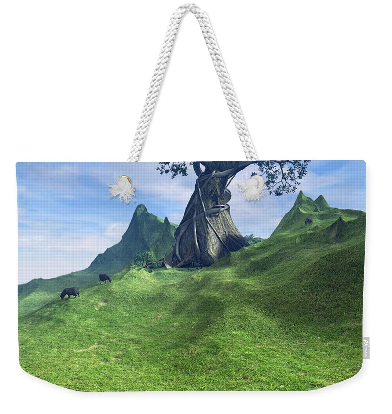 Grass Weekender Tote Bag featuring the digital art Pasture by Cynthia Decker