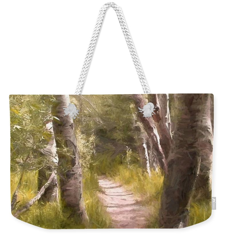 Woods Weekender Tote Bag featuring the photograph Path 1 by Pamela Cooper