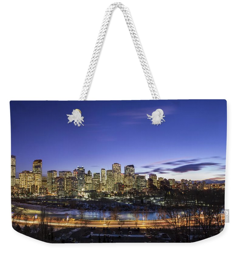 Calgary Weekender Tote Bag featuring the photograph Path Of Glory by Evelina Kremsdorf