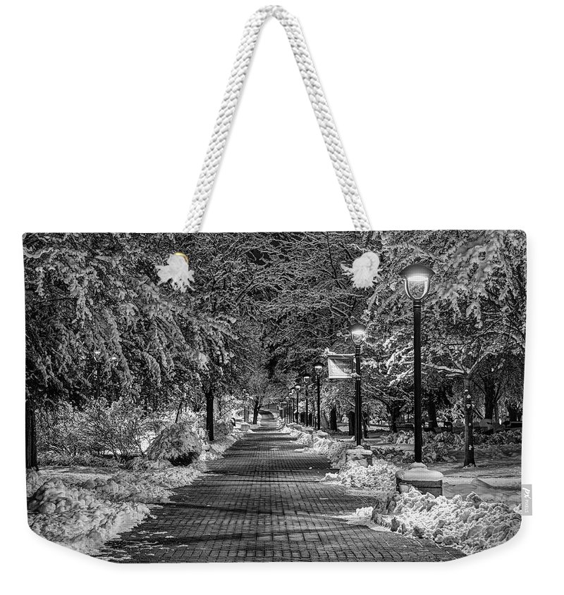 College Campus Weekender Tote Bag featuring the photograph Path Through Eastern by Mark Kiver