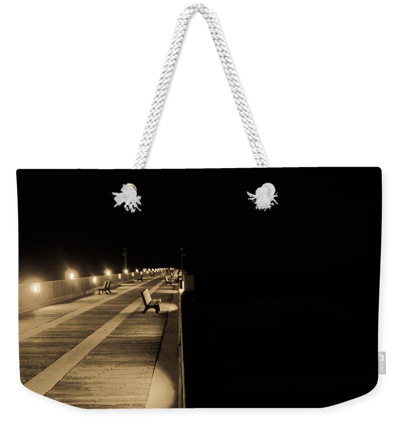 Pier Weekender Tote Bag featuring the photograph Path To Nothingness by Jon Cody