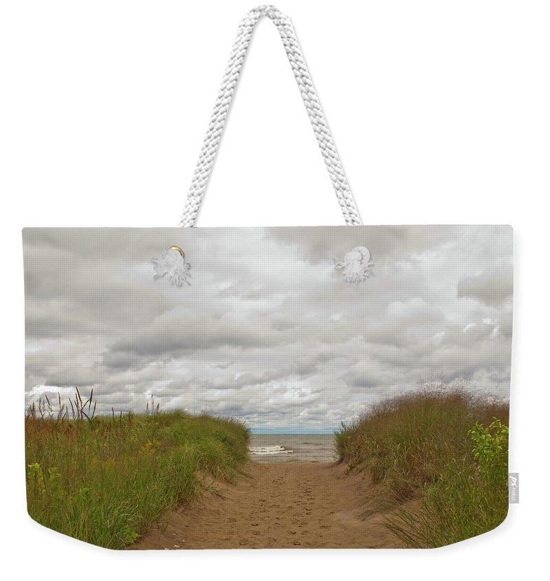 Landscape Weekender Tote Bag featuring the photograph Path To The Beach 12058 by Guy Whiteley