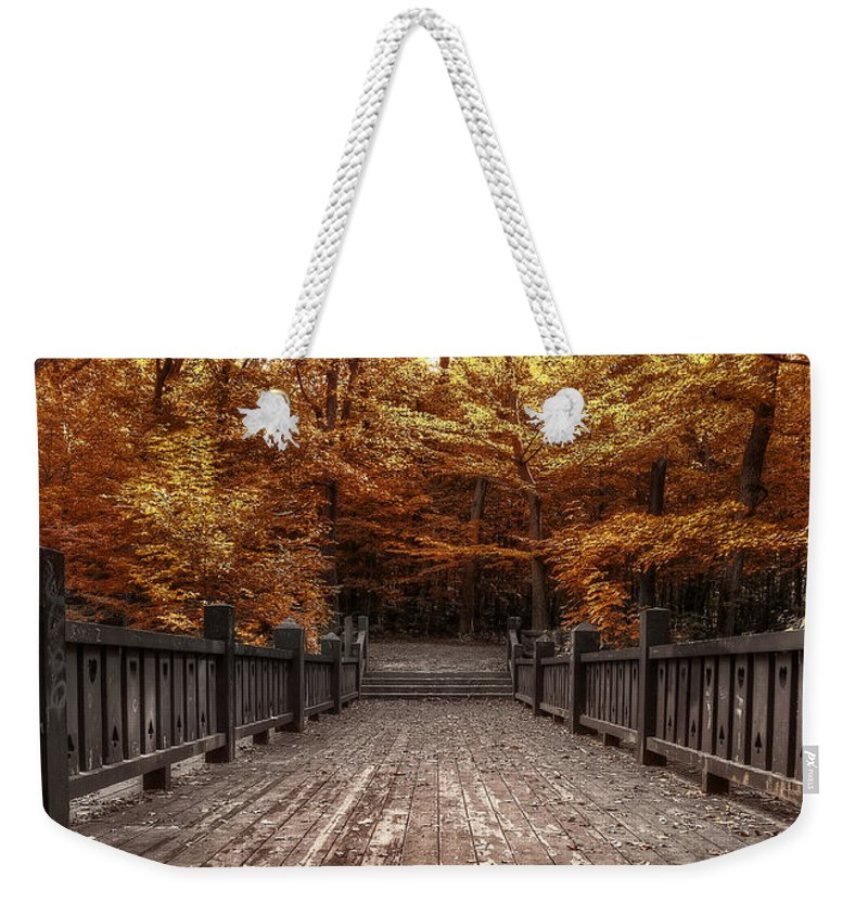 Landscape Weekender Tote Bag featuring the photograph Path To The Wild Wood by Scott Norris