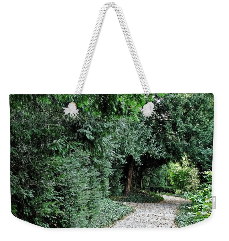 Travel Weekender Tote Bag featuring the photograph Pathway Of Monks by Elvis Vaughn