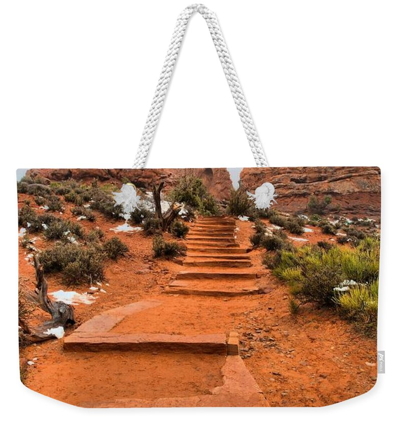 Arches Weekender Tote Bag featuring the photograph Pathway To Portals by David Andersen