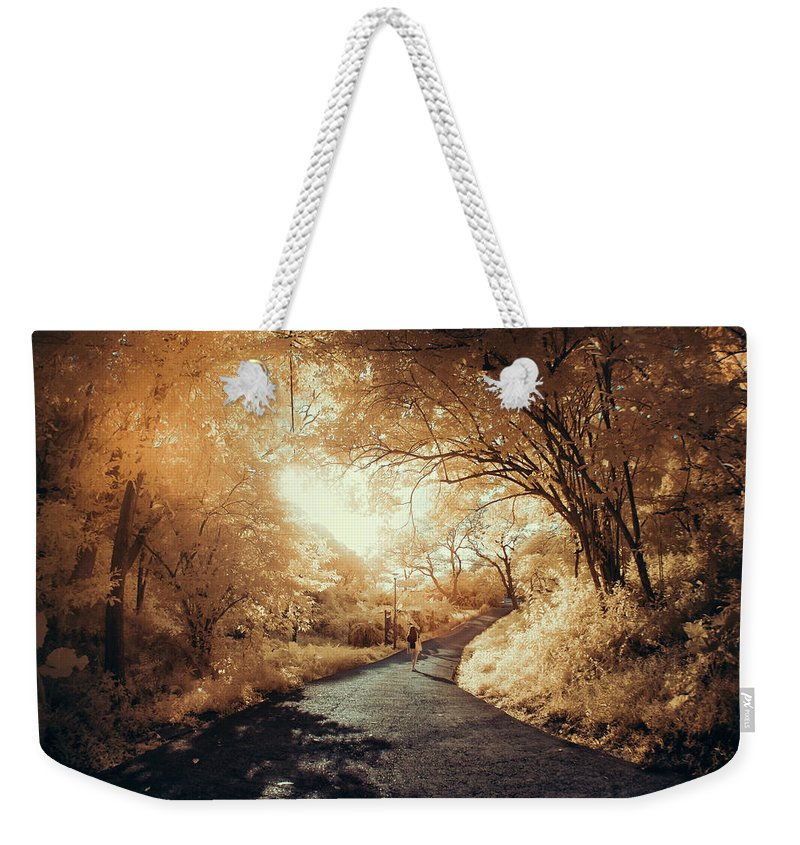 Shadow Weekender Tote Bag featuring the photograph Pathway To Wonderland by D3sign