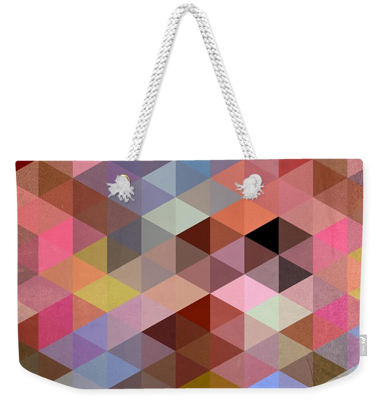 Contemporary Weekender Tote Bag featuring the digital art Pattern Of Triangle by Mark Ashkenazi