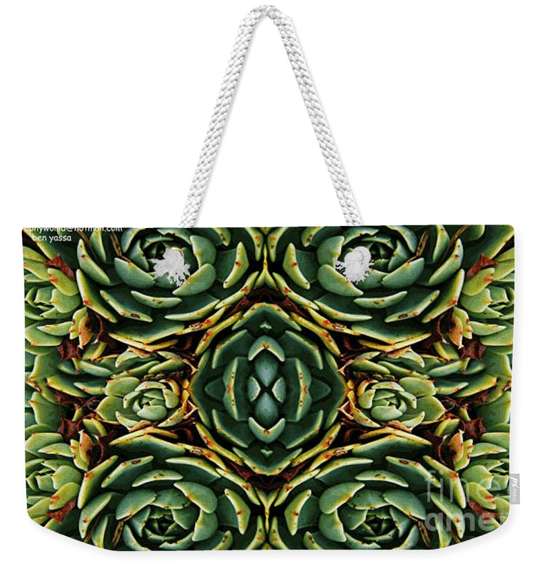 Patterns Weekender Tote Bag featuring the photograph Patterns by Ben Yassa