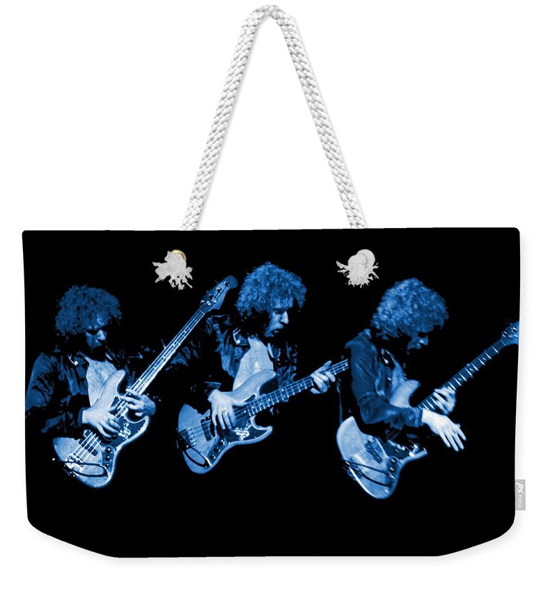 Paul Harwood Weekender Tote Bag featuring the photograph Paul Harwood Of Mahogany Rush Plays The Blues by Ben Upham