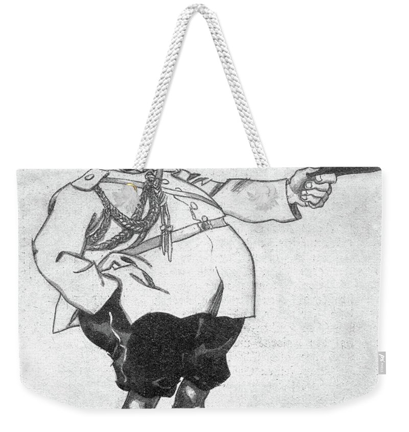 1914 Weekender Tote Bag featuring the drawing Paul Von Rennenkampf (1854-1918) by Granger