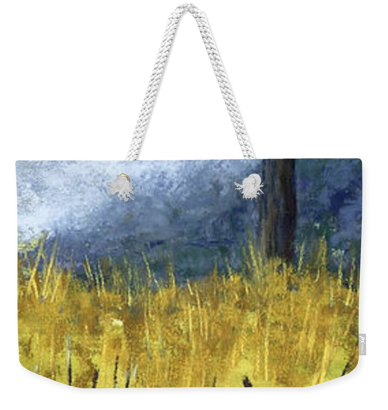 Trees Weekender Tote Bag featuring the painting Pauls Tree by Garry McMichael