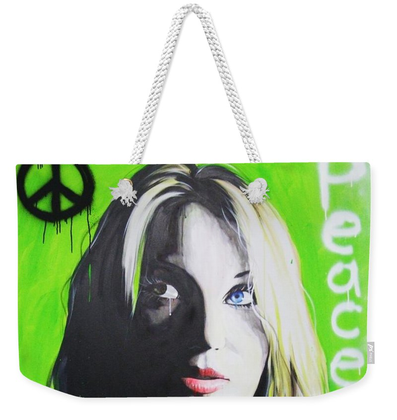 Portrait Weekender Tote Bag featuring the painting Peace by Christian Chapman Art