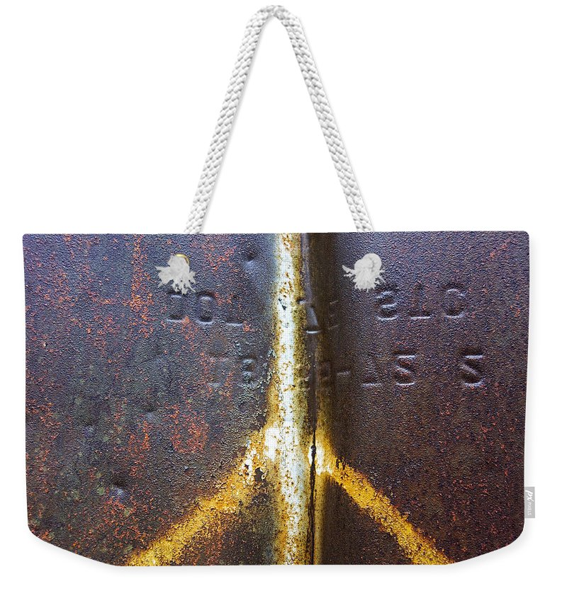 Peace Sign Weekender Tote Bag featuring the photograph Peace by David Stone