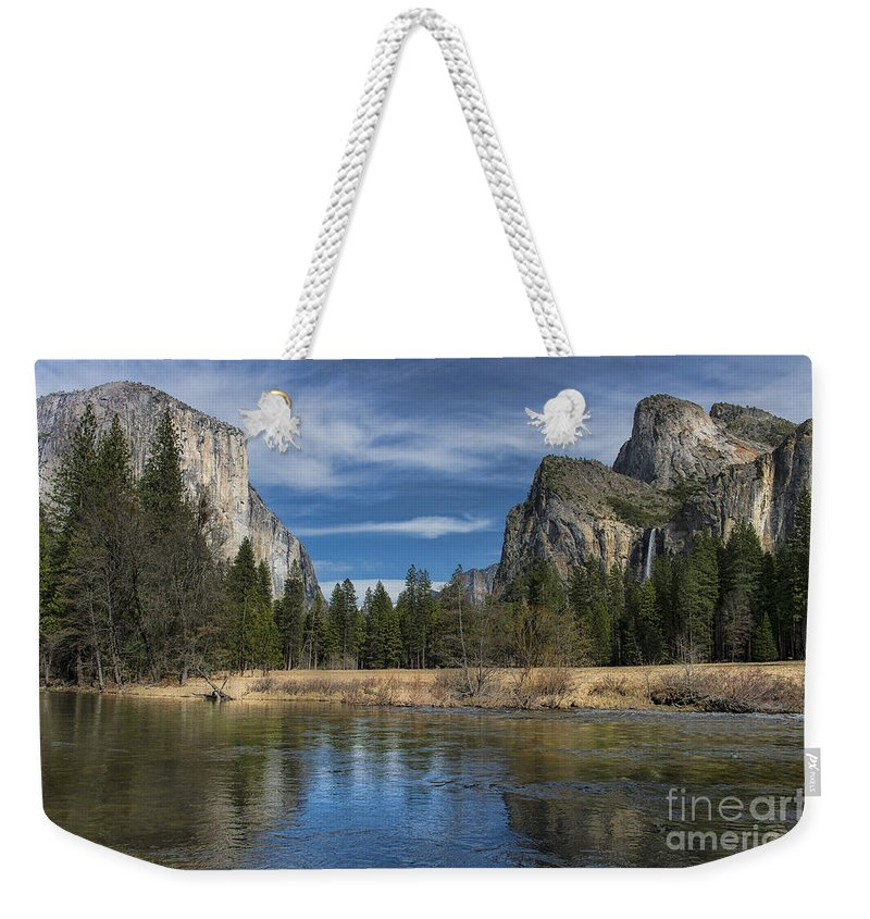 Yosemite Weekender Tote Bag featuring the photograph Peaceful Afternoon In Yosemite by Sandra Bronstein