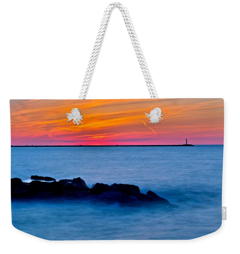 Bliss Weekender Tote Bag featuring the photograph Peaceful Bliss by Frozen in Time Fine Art Photography