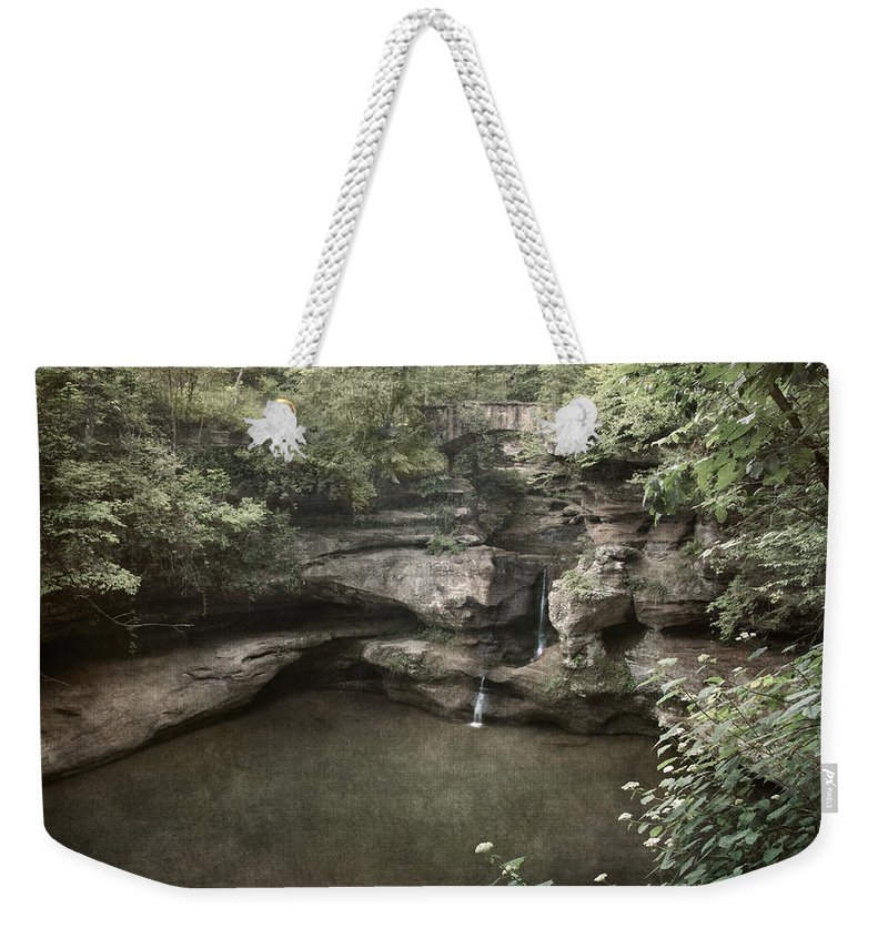 Waterfall Weekender Tote Bag featuring the photograph Peaceful Contemplation by Dale Kincaid