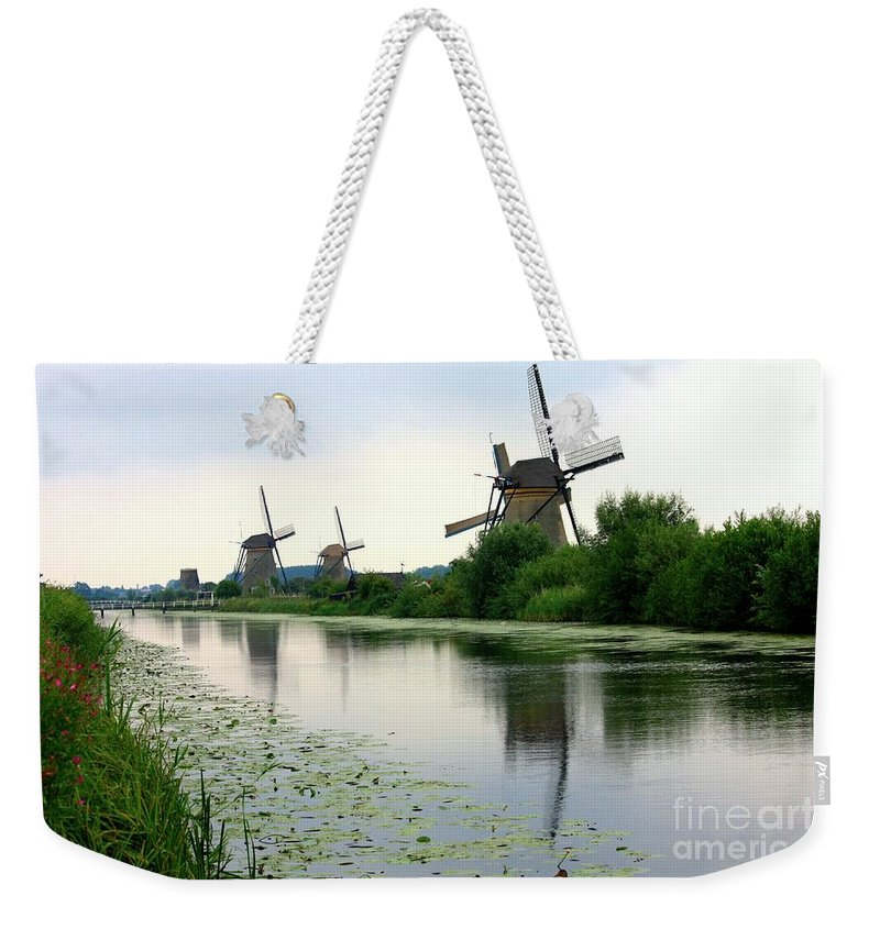 Holland Weekender Tote Bag featuring the photograph Peaceful Dutch Canal by Carol Groenen