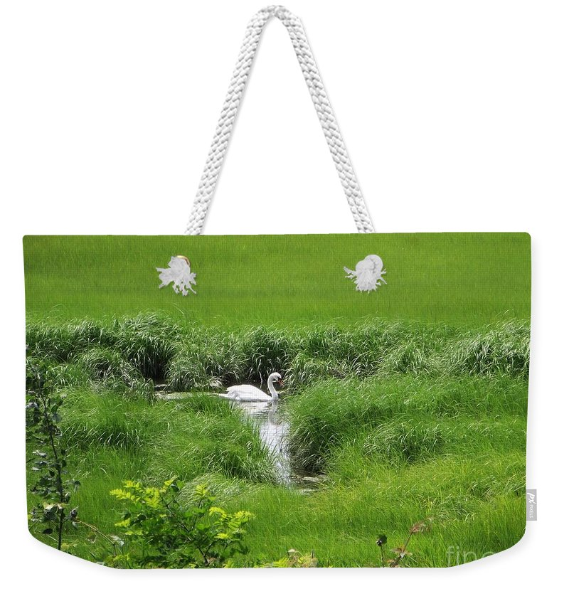 Cape Cod Weekender Tote Bag featuring the photograph Peaceful Reflection by Michelle Welles
