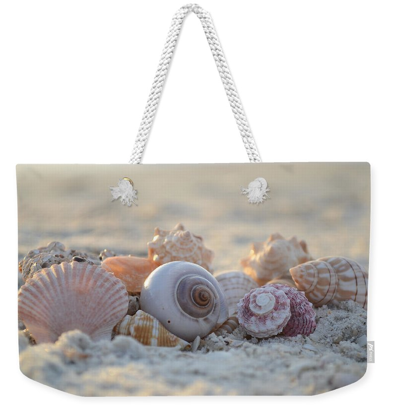 Seashell Weekender Tote Bag featuring the photograph Peaceful Whispers by Melanie Moraga