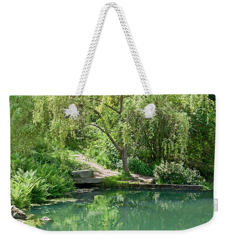 Tree Weekender Tote Bag featuring the photograph Peaceful Willow Tree Art Prints by Valerie Garner